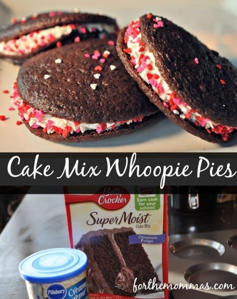 Whoopie cookie recipe using cake mix