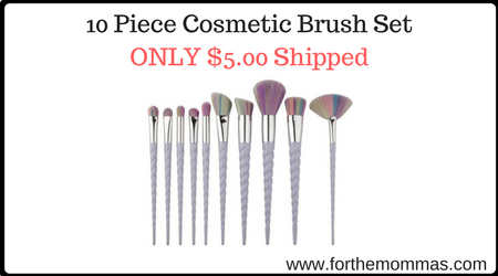 Cosmetic brush set target