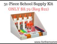 31-Piece School Supply Kit