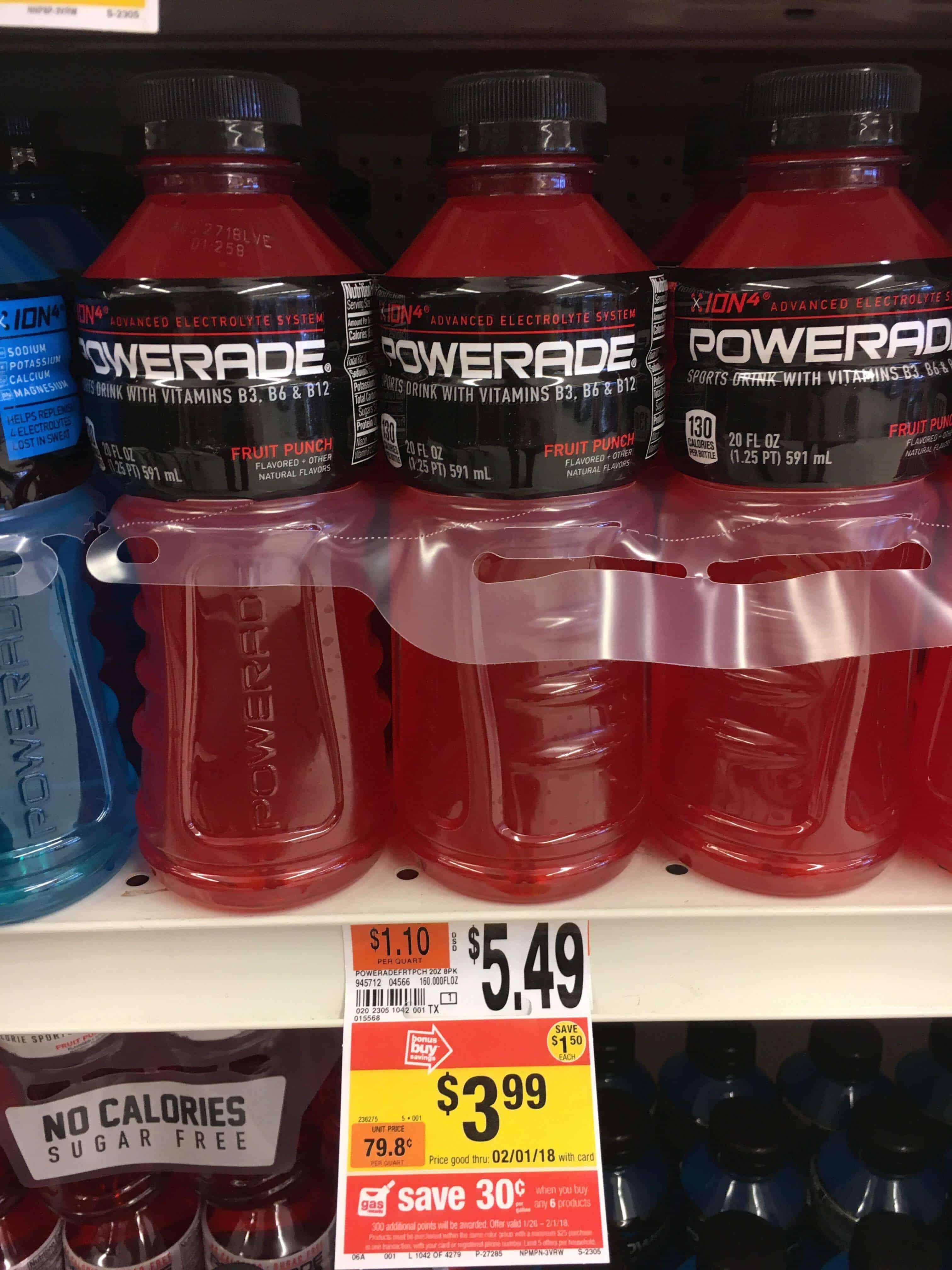 powerade giant drinks packs thru each food