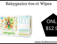 Babyganics 600 ct Wipes