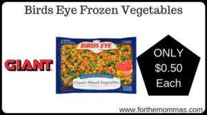 Birds Eye Frozen Vegetables