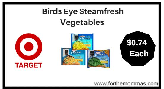 Target: Birds Eye Steamfresh Vegetables $0.74 (reg $0.99)