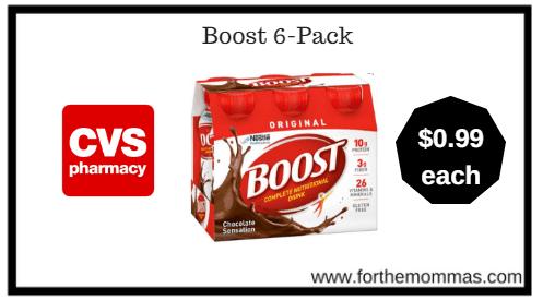 CVS: Boost 6-Pack ONLY $0.99 Each Through 1/13