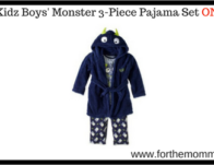 Bunz Kidz Boys' Monster 3-Piece Pajama Set