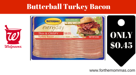 Walgreens: Butterball Turkey Bacon ONLY $0.45