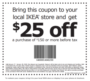 Ikea Printable Coupon 25 Off 150 Purchase Ftm