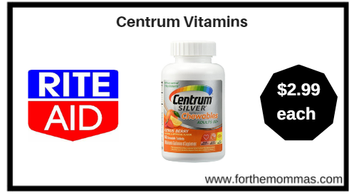 Rite Aid: Centrum Vitamins ONLY $2.99 Starting 1/14