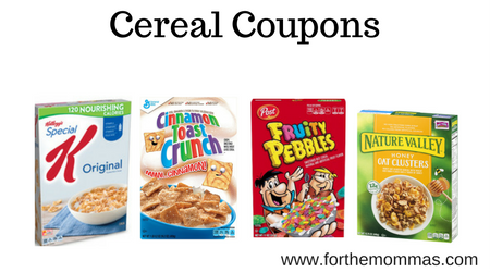 Cereal Coupons