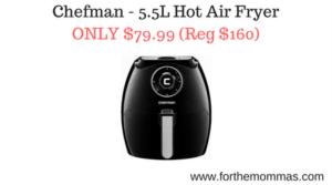 Chefman - 5.5L Hot Air Fryer