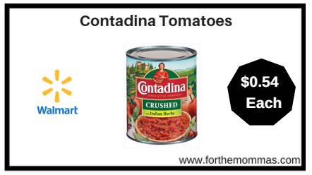 Walmart: Contadina Tomatoes ONLY $0.54 (reg $1.54)