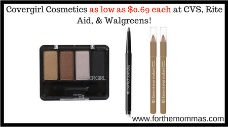 covergirl cosmetics as low as 069 each at cvs rite aid