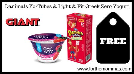 Danimals Yo-Tubes & Light & Fit Greek Zero Yogurt