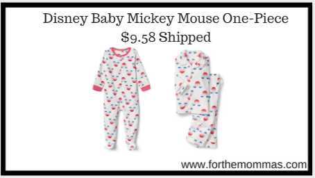 Disney Baby Mickey Mouse One-Piece $9.58 Shipped