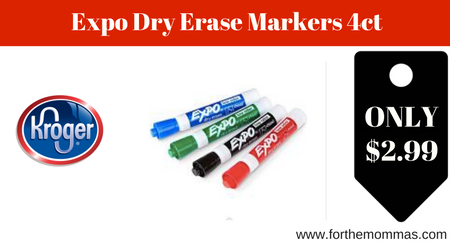 Kroger: Expo Dry Erase Markers ONLY $2.99 ( Reg $4.99)