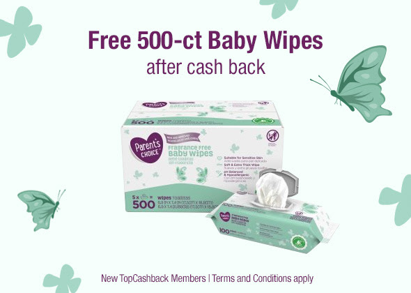 FREE 500 Count Baby Wipes