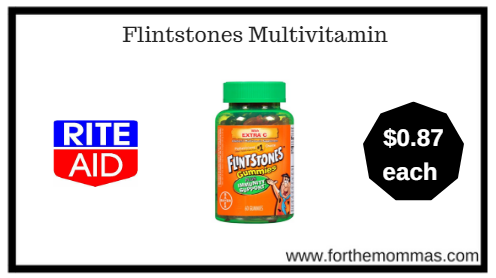 Rite Aid: Flintstones Vitamins ONLY $0.87 Each (Starting 1/14)