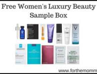 Free Women's Luxury Beauty Sample Box