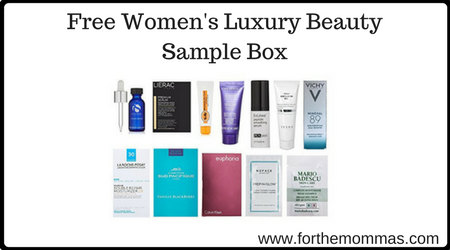 Free Women's Luxury Beauty Sample Box