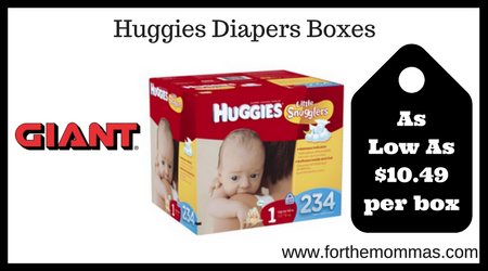 Huggies Diapers Boxes