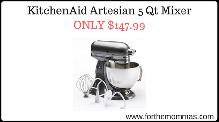 KitchenAid Artesian 5 Qt Mixer ONLY $147.99 After Rebate - FTM