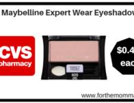 CVS: Maybelline Expert Wear Eyeshadow ONLY $0.49 each starting 1/14