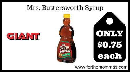 Mrs. Buttersworth Syrup