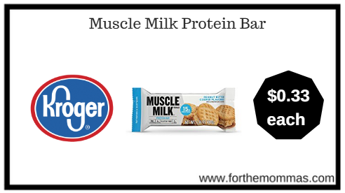Kroger: Muscle Milk Protein Bar ONLY $0.33