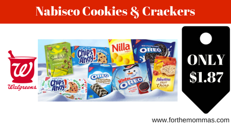 walgreens nabisco cookies crackers only 1 87 starting 1 14 ftm