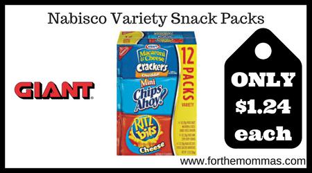 Nabisco Variety Snack Packs