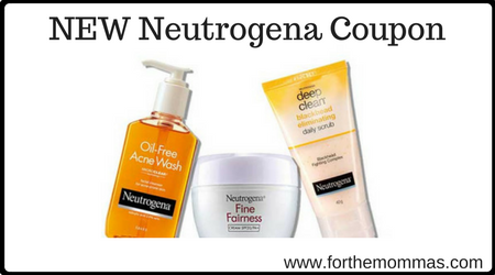Discount coupons for neutrogena products