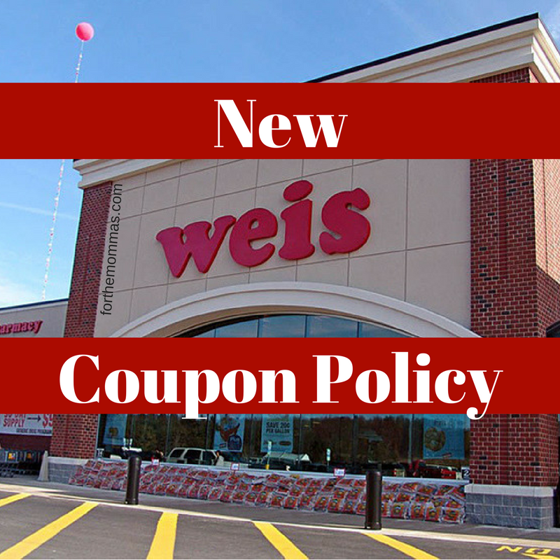 New Weis Markets Coupon Policy