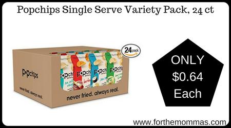 Popchips Single Serve Variety Pack, 24 ct