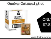 Quaker Oatmeal 48 ct