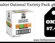 Quaker Oatmeal Variety Pack 48 ct