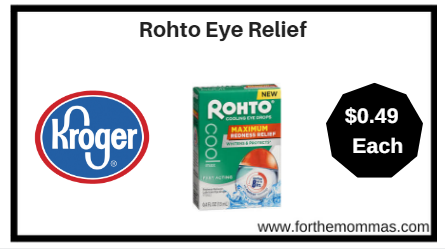 Kroger: Rohto Eye Relief ONLY $0.49