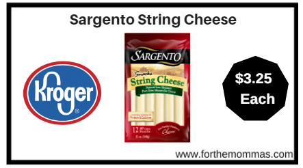 Kroger: Sargento String Cheese ONLY $3.25