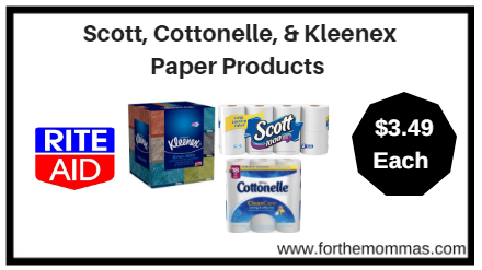 Rite Aid: Scott, Cottonelle, & Kleenex Paper Products ONLY $3.49 each starting 1/21
