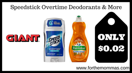 Speedstick Overtime Deodorants & More