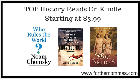TOP History Reads On Kindle Starting at $3.99