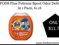 Tide PODS Plus Febreze Sport Odor Defense 4 in 1 Pacs, 61 ct
