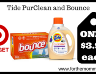 Tide PurClean and Bounce