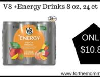 V8 +Energy Drinks 8 oz, 24 ct