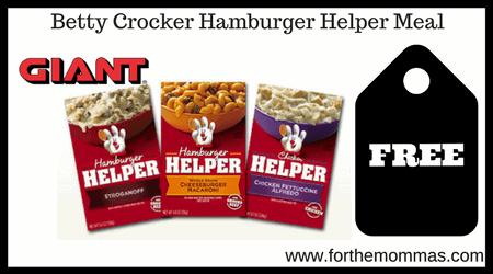 Betty Crocker Hamburger Helper Meal