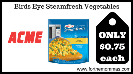 Birds Eye Steamfresh Vegetables