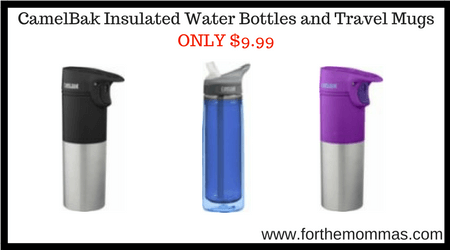 Camelbak Insulated Water Bottles And Travel Mugs Only 9