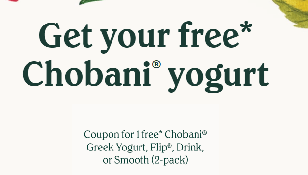 Free chobani yogurt coupons
