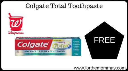 Walgreens: Free Colgate Toothpaste Starting 3/24