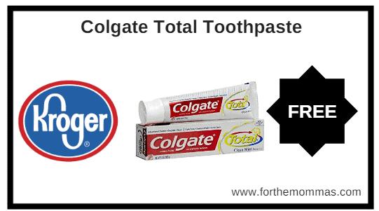 Kroger MEGA Sale: FREE Colgate Total Toothpaste