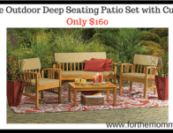 4-Piece Outdoor Deep Seating Patio Set with Cushions